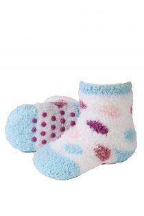 VERA cozy light blue home socks for babies | BestSockDrawer.com