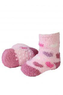 VERA cozy light pink home socks for babies | BestSockDrawer.com