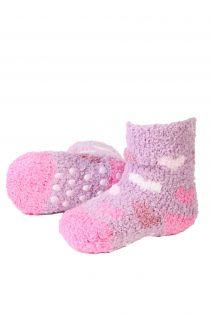 VERA cozy purple home socks for babies | BestSockDrawer.com