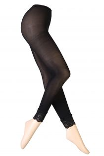 VERONA black leggings with lace | BestSockDrawer.com