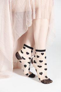 VERONICA black sheer socks   BestSockDrawer.com