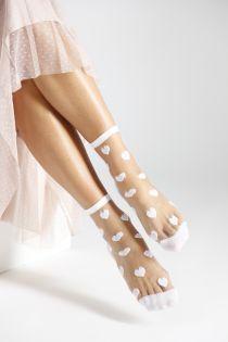 VERONICA white sheer socks   BestSockDrawer.com