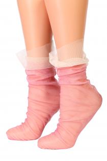 Oroblu VEIL pink mesh socks | BestSockDrawer.com