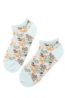 WEDGE FAMILY green low-cut cotton socks | BestSockDrawer.com