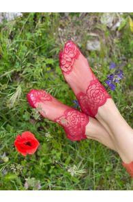 TERESA red lace socks for women | BestSockDrawer.com