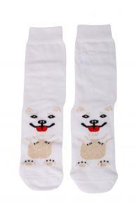 PUPPY white cotton socks for dog lovers | BestSockDrawer.com
