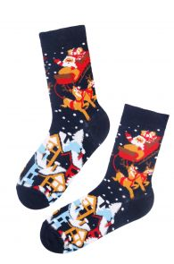 SWEET HOME cotton Christmas socks | BestSockDrawer.com