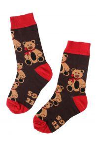 FREE HUGS kids socks with bear pattern | BestSockDrawer.com