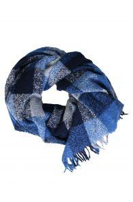 Alpaca wool blue grey checkered plaid | BestSockDrawer.com