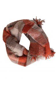 Alpaca wool red grey checkered plaid | BestSockDrawer.com