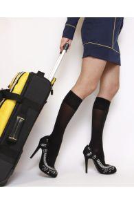 VARIS 70DEN black compression knee-highs | BestSockDrawer.com