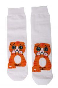 KITTY white cotton socks for cat lovers   BestSockDrawer.com