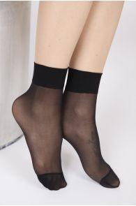 FEM sheer black socks, 2-pack | BestSockDrawer.com