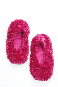 CHENILLE lilac-pink women's slippers | BestSockDrawer.com