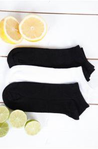 JOHANNA bamboo viscose low-cut socks for women, 3 pairs | BestSockDrawer.com