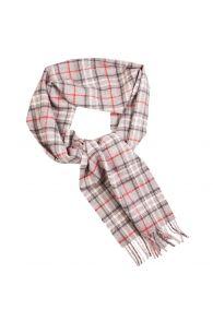 Alpaca wool grey checkered scarf | BestSockDrawer.com