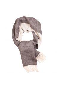 Alpaca wool white-grey scarf | BestSockDrawer.com