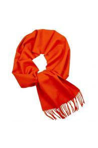 Alpaca wool orange scarf | BestSockDrawer.com