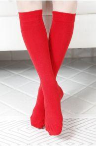 KRISS red cotton knee highs for children | BestSockDrawer.com