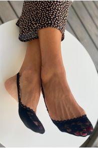 AIDA black lace toe socks for women | BestSockDrawer.com