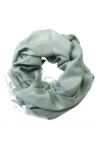 Green alpaca wool and silk shawl | BestSockDrawer.com