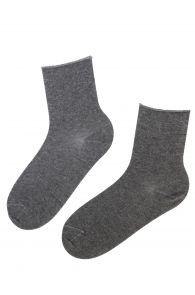 ANNI gray angora wool comfort socks   BestSockDrawer.com
