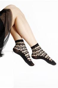 ANTONINA sheer black socks for women | BestSockDrawer.com