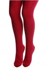 AURA bordeaux cotton tights for children   BestSockDrawer.com