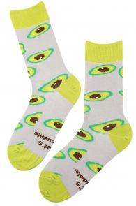 AVOCADO grey chef socks | BestSockDrawer.com