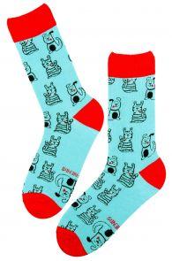 BEST BUDDY light blue cotton socks | BestSockDrawer.com