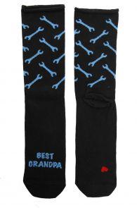 "MATTI black socks for men with the text ""BEST GRANDPA"" in English   BestSockDrawer.com"