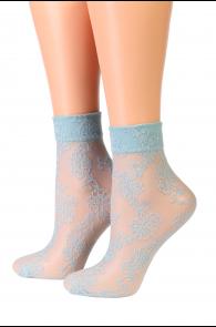 Oroblu BRILLIANCE blue socks | BestSockDrawer.com