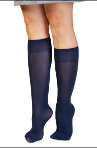 CADRI 40DEN dark blue knee-highs for women | BestSockDrawer.com