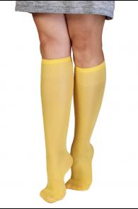 CADRI 40DEN yellow knee-highs for women   BestSockDrawer.com