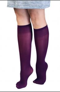 CADRI 40DEN purple knee-highs for women   BestSockDrawer.com