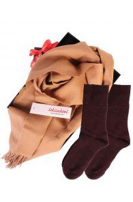 Alpaca wool scarf and DOORA bordoo socks gift box for women | BestSockDrawer.com