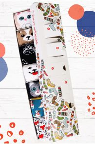 ANIMAL LOVER gift box containing 7 pairs of socks for each week day | BestSockDrawer.com