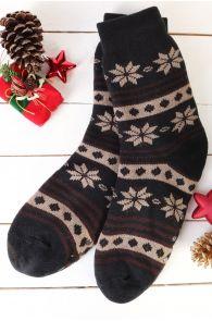 CLEO black warm home socks for men | BestSockDrawer.com