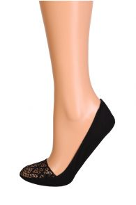 CUORI black footies with a lace edge | BestSockDrawer.com