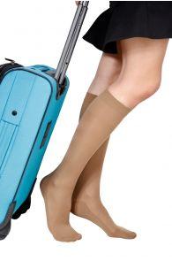 ECOCARE 70DEN natural travel knee-highs | BestSockDrawer.com