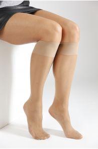 ECOCARE 20DEN beige knee-highs | BestSockDrawer.com