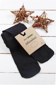 ECOCARE black 3D 70DEN recycled tights for kids | BestSockDrawer.com
