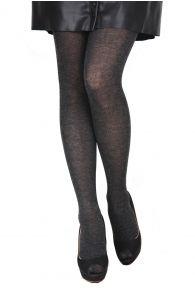 ELENA dark grey tights containing silk | BestSockDrawer.com