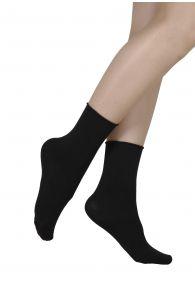 ELENA black socks containing silk | BestSockDrawer.com