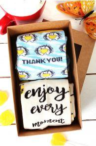 MOMENT gift box containing 2 pairs of socks | BestSockDrawer.com