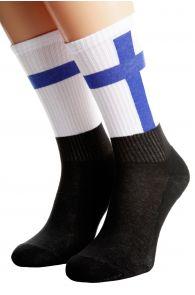 FINLAND flag socks for men and women | BestSockDrawer.com