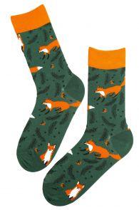 FOXY green cotton socks   BestSockDrawer.com