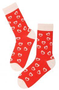 FOXY LOVE orange Valentine's Day cotton socks | BestSockDrawer.com