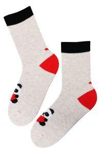 FRIENDSHIP grey Valentine's Day cotton socks | BestSockDrawer.com