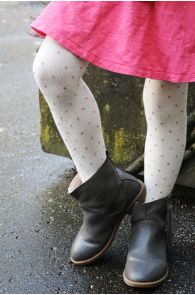 GAIA creamy white tights for kids | BestSockDrawer.com